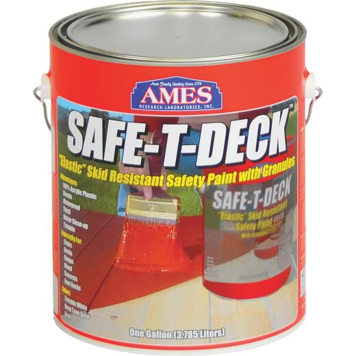 Ames Safe-T-Deck Gray Elastomeric Waterproofing Sealer Deck Paint, 1 Gal.