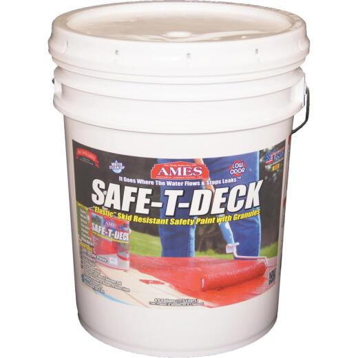 Ames Safe-T-Deck Gray Elastomeric Waterproofing Sealer, 5 Gal. Deck Paint