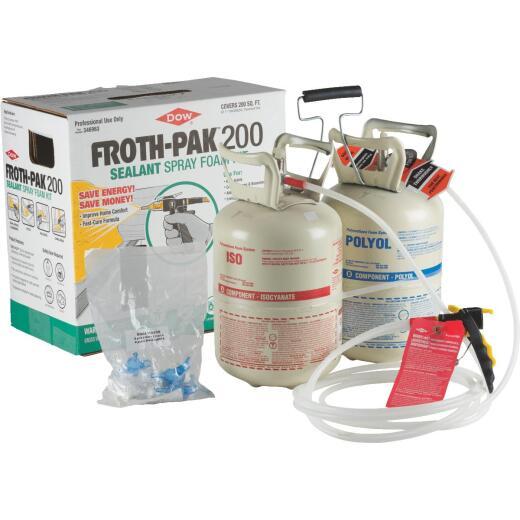 FROTH-PAK 200 2-Component Polyurethane Foam Sealant Kit