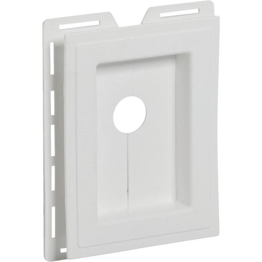 "Ply Gem 5-1/4"" x 7"" White Vinyl Mounting Blocks"
