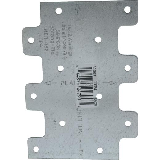 Simpson Strong-Tie 3 in. W x 4 1/4 in. L. Galvanized Steel 20 Gauge Tie Plate