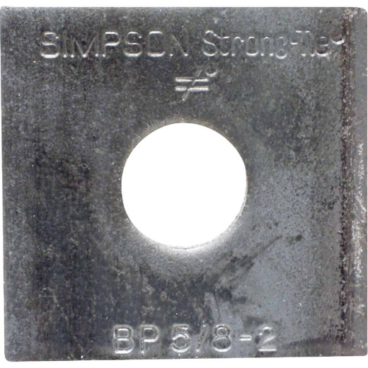 Simpson Strong-Tie 5/8 in. x 2 in. x 3/16 in. Steel Uncoated Bearing Plate