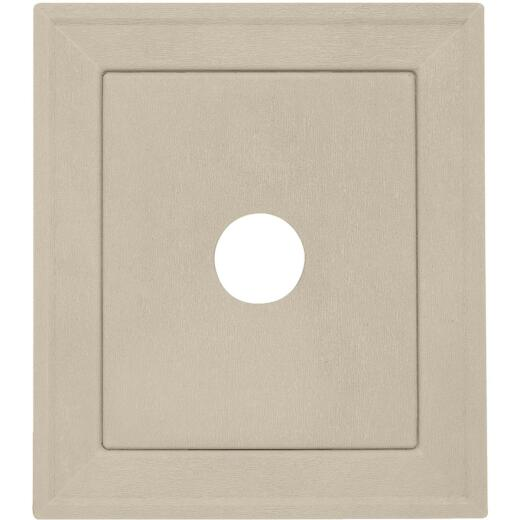 "Ply Gem 8-3/16"" x 8-3/16"" Tan Vinyl Mounting Blocks"