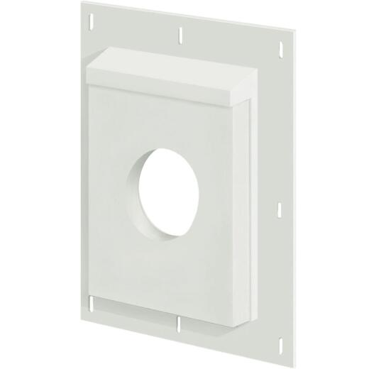 "Builders Edge Sturdimount 8-1/2"" x 11"" Arctic White Fiber Cement Mounting Blocks"