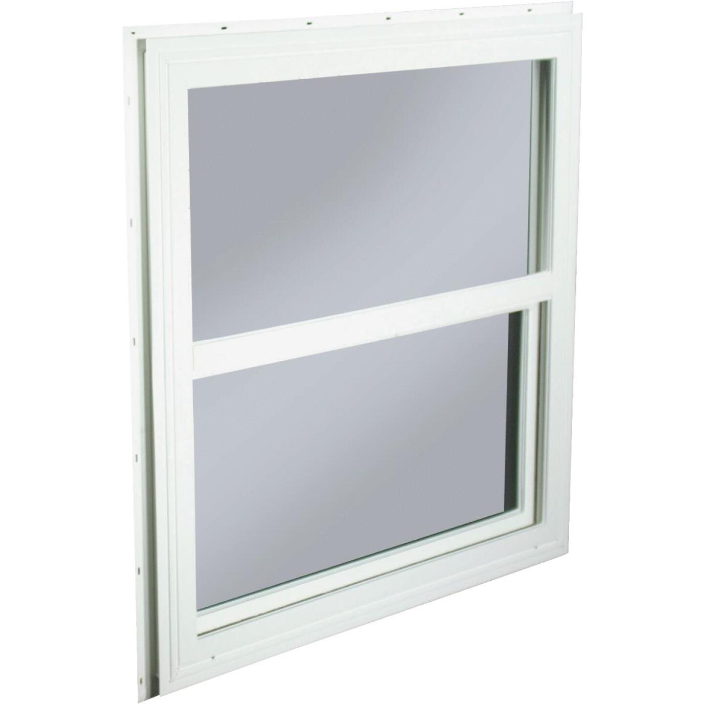 Northview 29-1/2 In. W. x 29-1/2 In. H. White PVC Traditional Single Glazed Single Hung Window Image 1