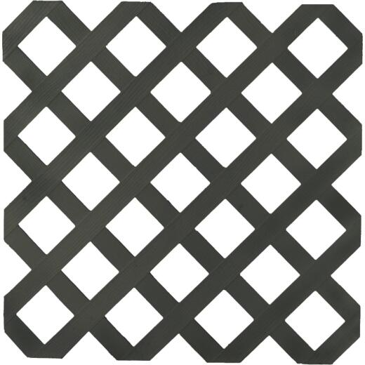 Dimensions 4 Ft. W x 8 Ft. L x 1/8 In. Thick Black Vinyl Lattice Panel
