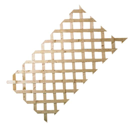 Prowood 2 Ft. W x 8 Ft. L x 1/2 In. Thick Natural Treated Wood Lattice Panel
