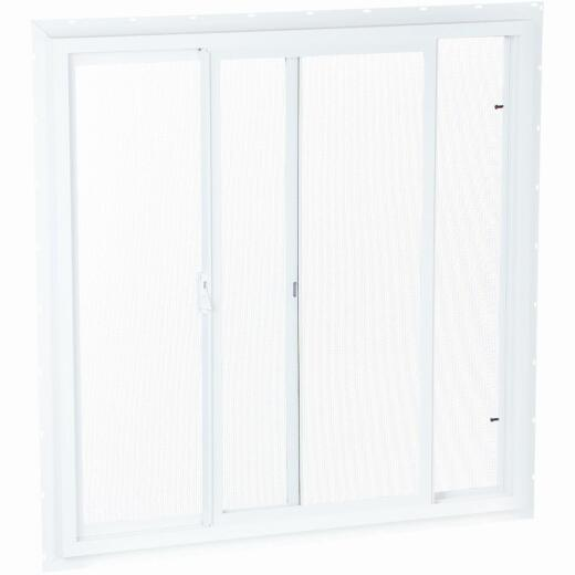 Northview 35-1/2 In. W. x 23-1/2 In. H. White PVC Single Glazed Utility Sliding Window