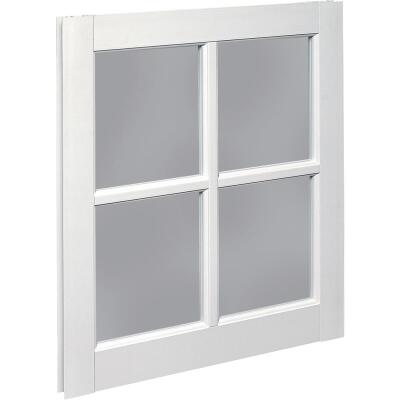 Northview Window 24 In. x 29 In. PVC 4-Lite Barn Sash
