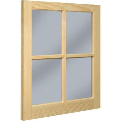 Northview Window 20 In. x 25 In. Wood 4-Lite Barn Sash