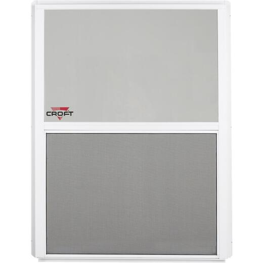 Croft Series 90 24 In. W. x 36 In. H. White Aluminum Single Hung Window