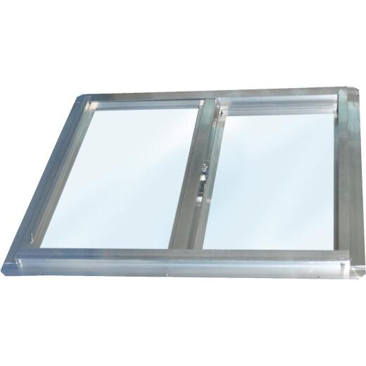 Croft Series 90 24 In. W. x 24 In. H. Glazed Mill Aluminum Sliding Window