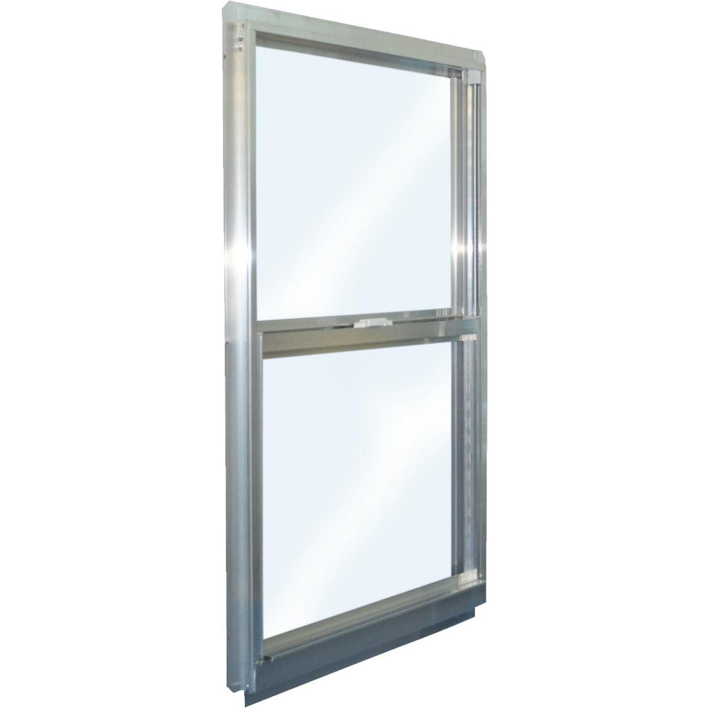 Croft Series 90 31 In. W. x 59 In. H. Mill Finish Aluminum Single Hung Window Image 1