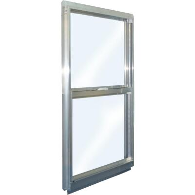 Croft Series 90 35 In. W. x 59 In. H. Mill Finish Aluminum Single Hung Window