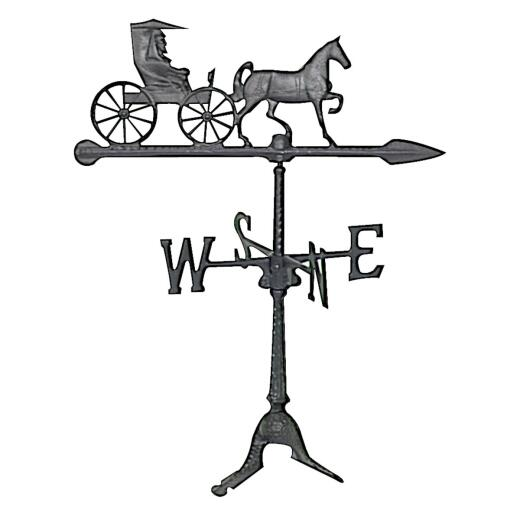 Whitehall Products 24 In. Black Aluminum Country Doctor Weather Vane