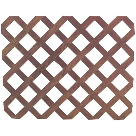 Real Wood Products 4 Ft. W. x 8 Ft. L. x 3/4 In. Thick Natural Cedar Privacy Lattice Panel