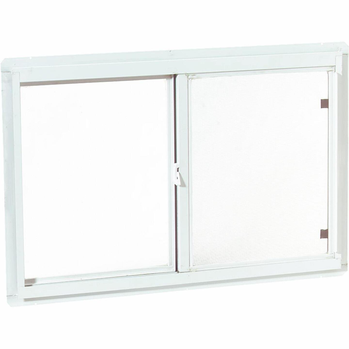 Croft Series 70 47 In. W. x 23 In. H. White Aluminum Sliding Window with Screen Image 1