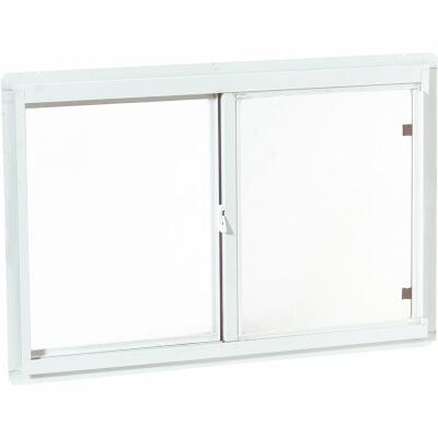 Croft Series 70 47 In. W. x 23 In. H. White Aluminum Sliding Window with Screen