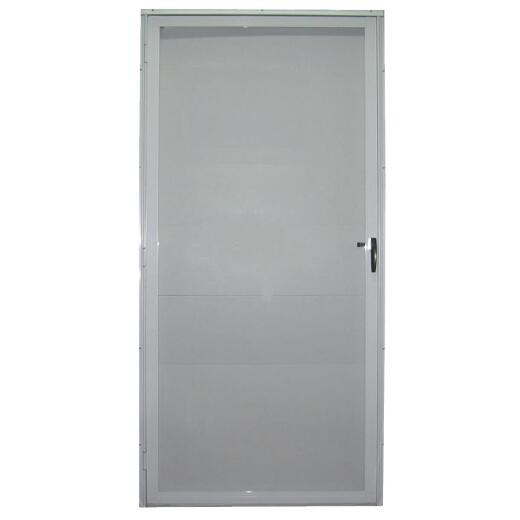 Croft Imperial Style 36 In. W. x 80 In. H. x 1-7/8 In. Thick White Full View Aluminum Storm Door