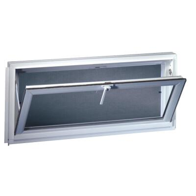 Northview Hemlock Hopper 32 In. W. x 19-1/4 In. H. White PVC Basement Window