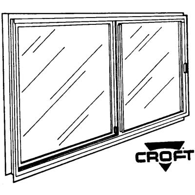Croft Series 70 46 In. W. x 22 In. H. White Aluminum Single Glazed Sliding Window