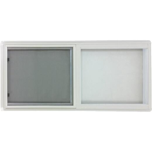 Croft Series 75 46 In. W. x 22 In. H. White Aluminum Insulated Sliding Window