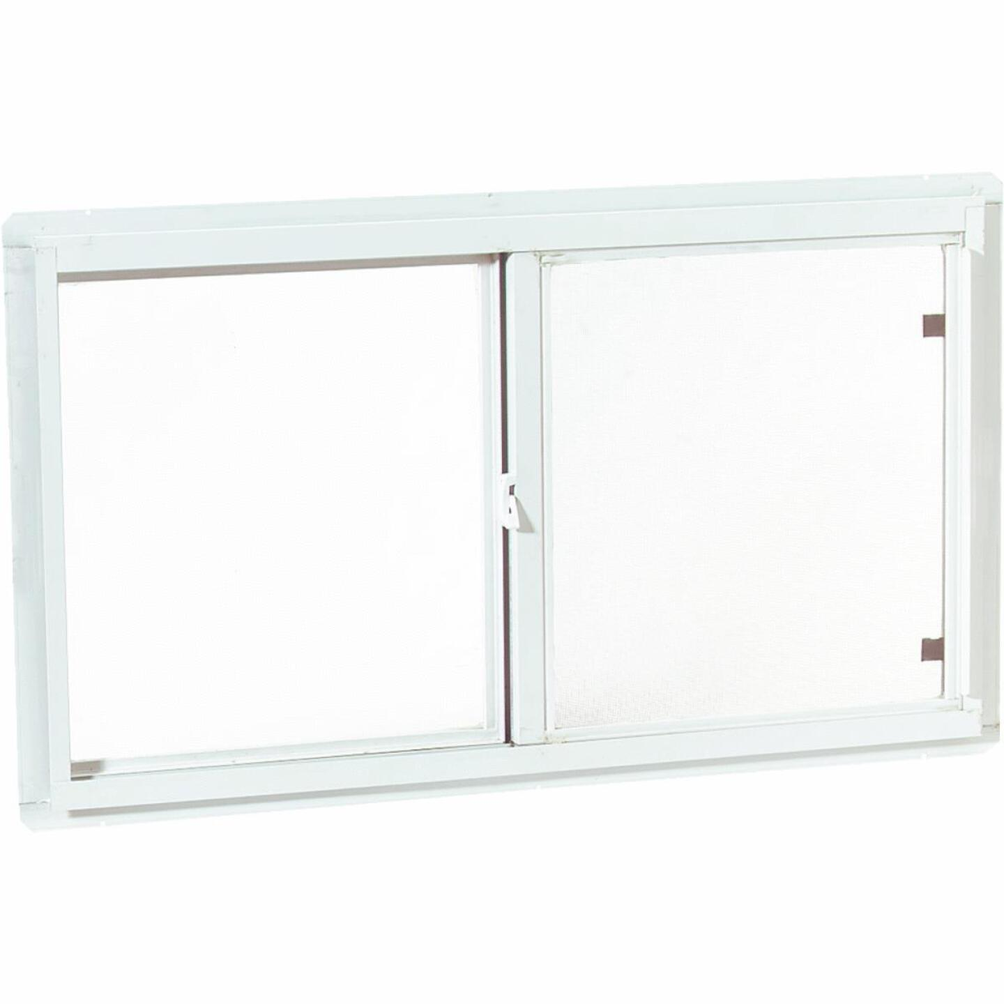 Croft 46 In. W. x 22 In. H. White Insulated Vinyl Horizontal Sliding Window Image 1