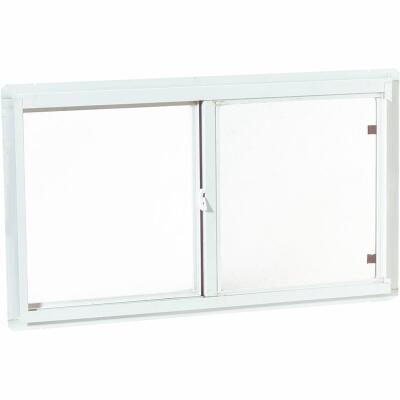 Croft 46 In. W. x 22 In. H. Sandstone Insulated Vinyl Horizontal Sliding Window