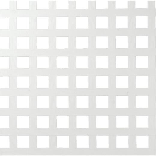Dimensions 4 Ft. W x 8 Ft. L x 3/16 In. Thick White Vinyl Privacy Square Lattice Panel
