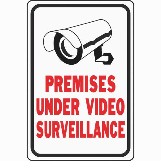 Hy-Ko Heavy-Duty Aluminum Sign, Premises Under Video Surveillance