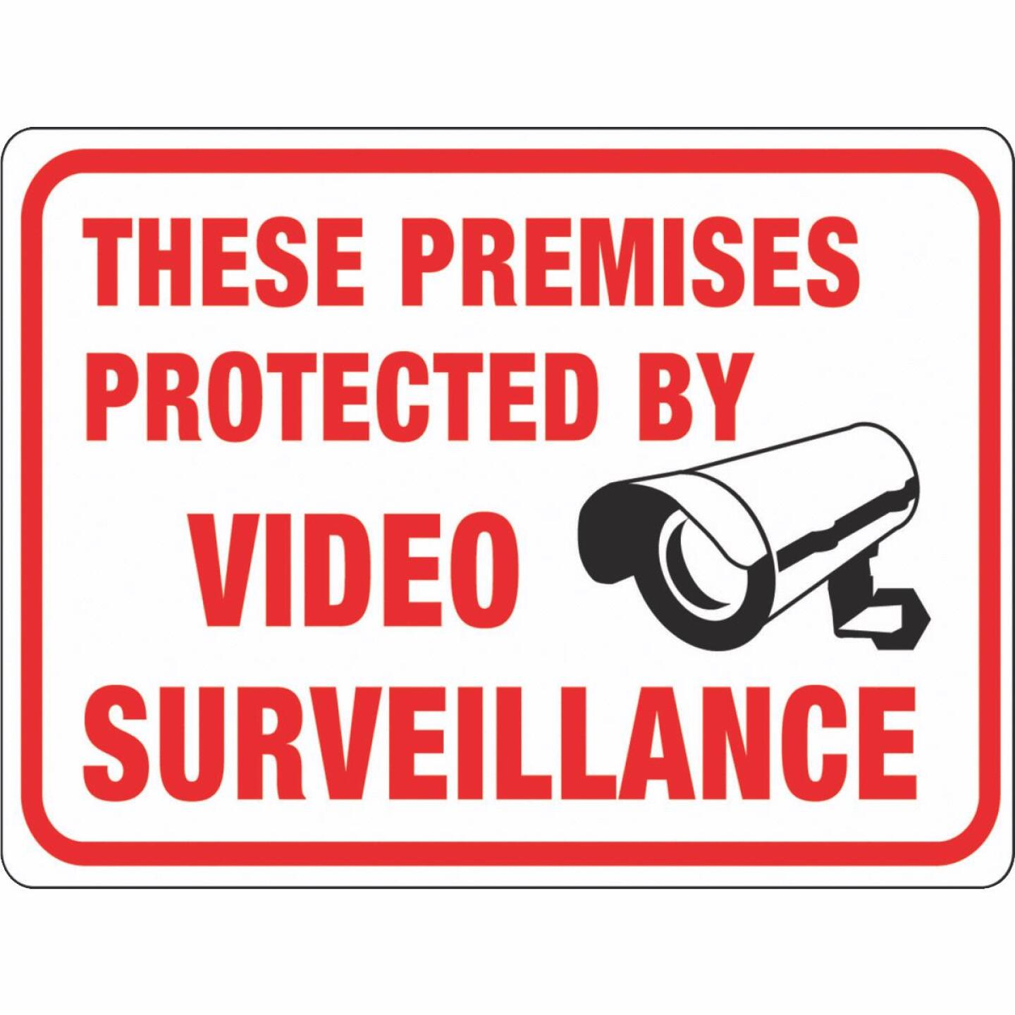 Hy-Ko Plastic Sign, These Premises Protected By Video Surveillance Image 1