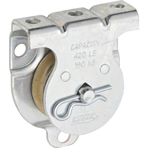 National 1-1/2 In. O.D. Single Wall/Ceiling Mount Rope Pulley