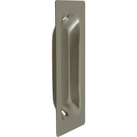 National 3-1/4 In. Rectangular Satin Nickel Flush Pocket Door Pull