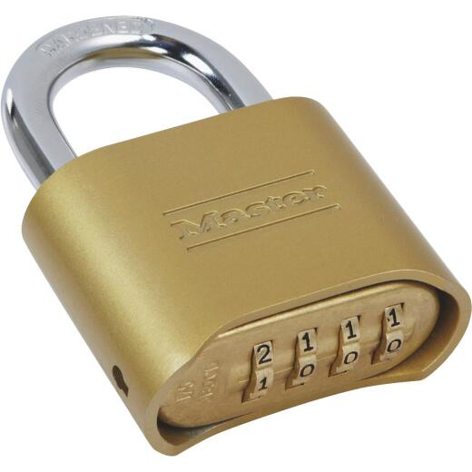Master Lock 2 In. Zinc Die-Cast Copper Color Tamper Resistant Combination Lock