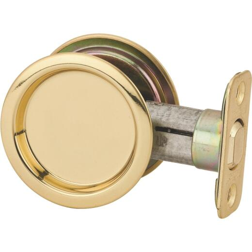 National Passage Polished Brass Pocket Door Pull