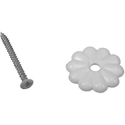 United States Hardware White Rosette (6 Count)