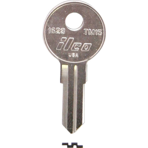 ILCO Trimark Nickel Plated Toolbox Key, TM15 (10-Pack)