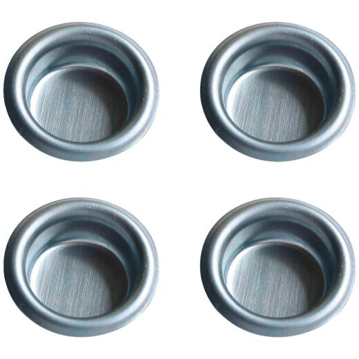 Johnson Hardware 3/4 In. Dia. Satin Nickel Flush Cup Pocket Door Pull (4-Count)
