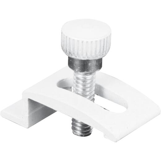 Prime-Line 3/4 In. Span White Storm Door Panel Clip (8 Count)