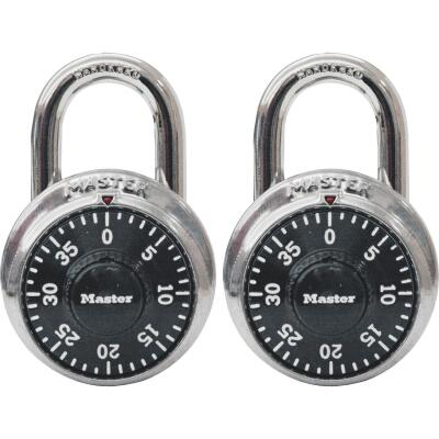 Master Lock 1-7/8 In. Stainless Steel Combination Padlock (2-Pack)
