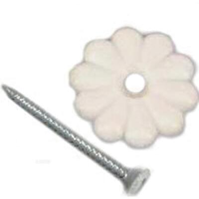 United States Hardware White Rosette (24 Count)