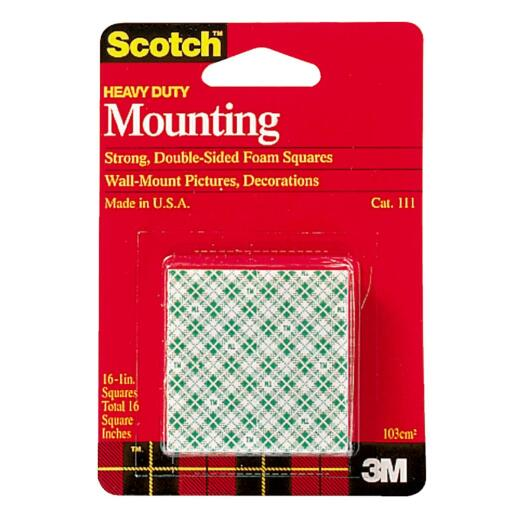 3M Scotch 1 In. x 1 In. 4 Lb. Capacity Removable Mounting Squares (16-Pack)