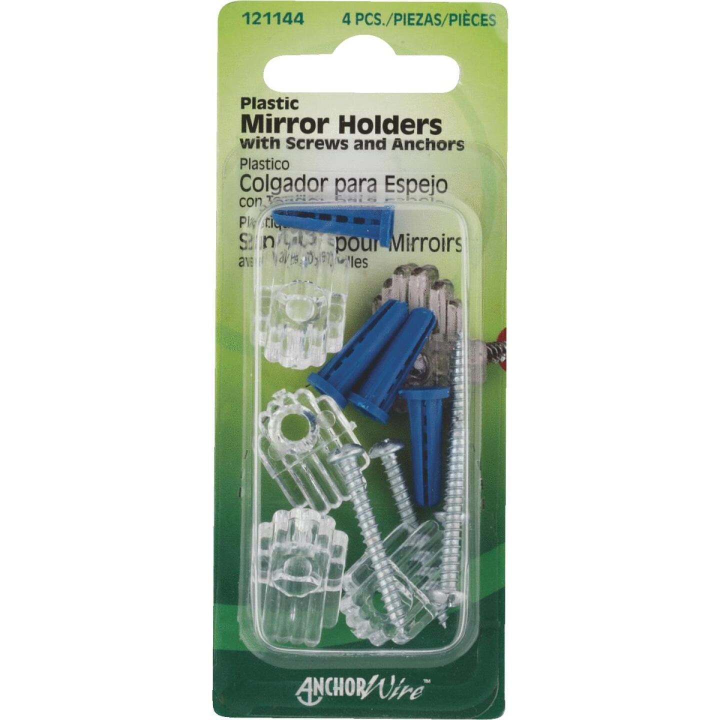 Hillman Plastic Mirror Holders & Anchors Set Image 1