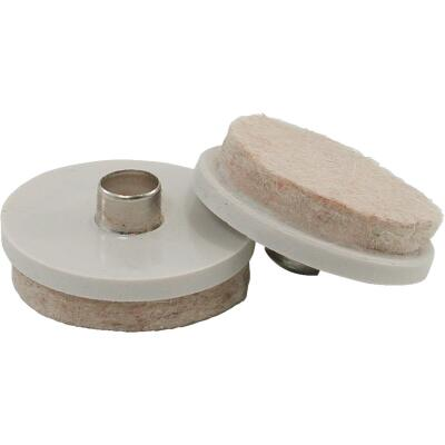 Do it 1-1/2 In. Round Nail on Furniture Glide,(4-Pack)