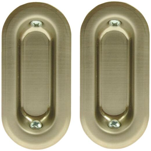 Johnson Hardware Oval Flush Pocket Door Pull
