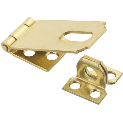 National 2-1/2 In. Brass Non-Swivel Safety Hasp