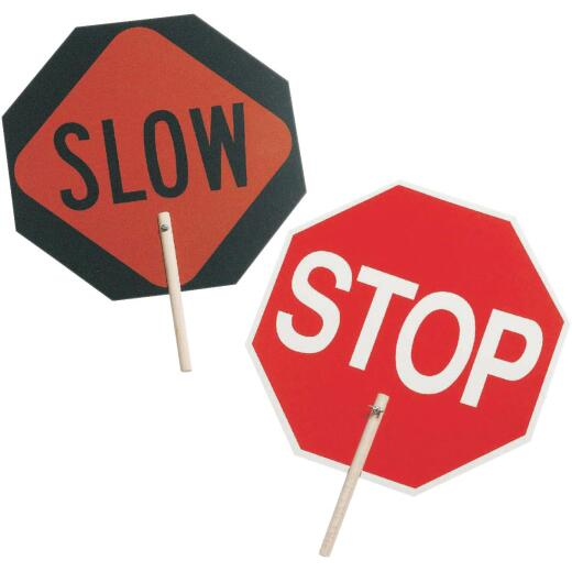 C.H. Hanson Stop/Slow Safety Sign with 10 In. Wood Handle