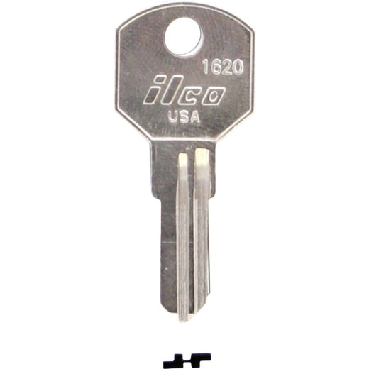 ILCO Delta Nickel Plated Toolbox Key, 1620 (10-Pack)