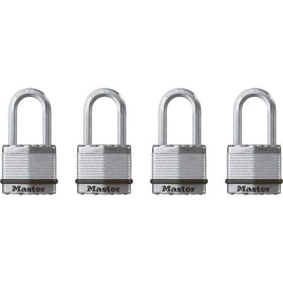 Master Lock Magnum 1-3/4 In. W. Dual-Armor Keyed Alike Padlock with 1-1/2 In. L. Shackle (4 Pack)