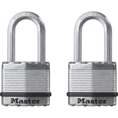 Master Lock Magnum 1-3/4 In. W. Dual-Armor Keyed Alike Padlock with 1-1/2 In. L. Shackle (2 Pack)